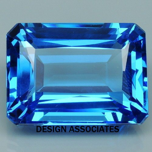 swiss blue topaz 7 x 5 emerald cut all natural aaa. Black Bedroom Furniture Sets. Home Design Ideas